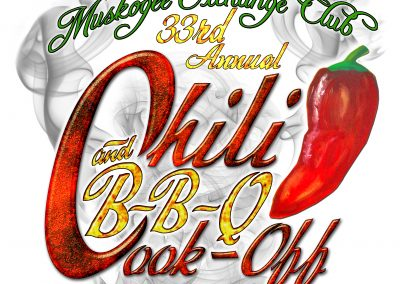 Chili cookoff white logo